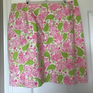 Vintage White Label Lilly Pulitzer Pink Skirt
